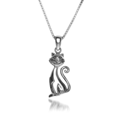 Grinning Cat Pendant Necklace Sterling Silver 925 Hallmark All Chain Lengths